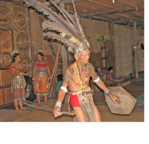 Borneo man dancing
