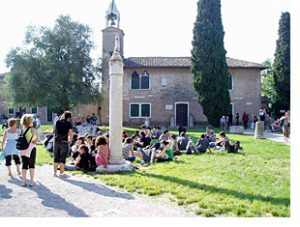 Torcello main piazza