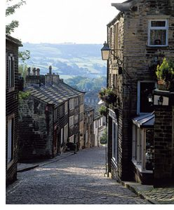 street in haworth, yorkshire