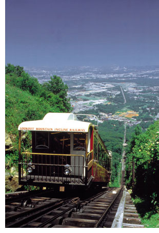 Chattanooga Incline Railway on Lookout Mountain Tennessee
