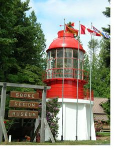 lighthouse at Sooke museum