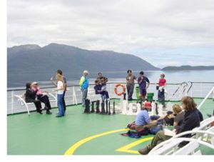 patagonia ferry deck