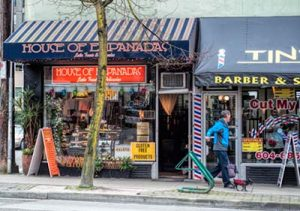 Shops on Denman Street in Vancouver