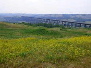 Battle River trestle bridge Wainright Alberta